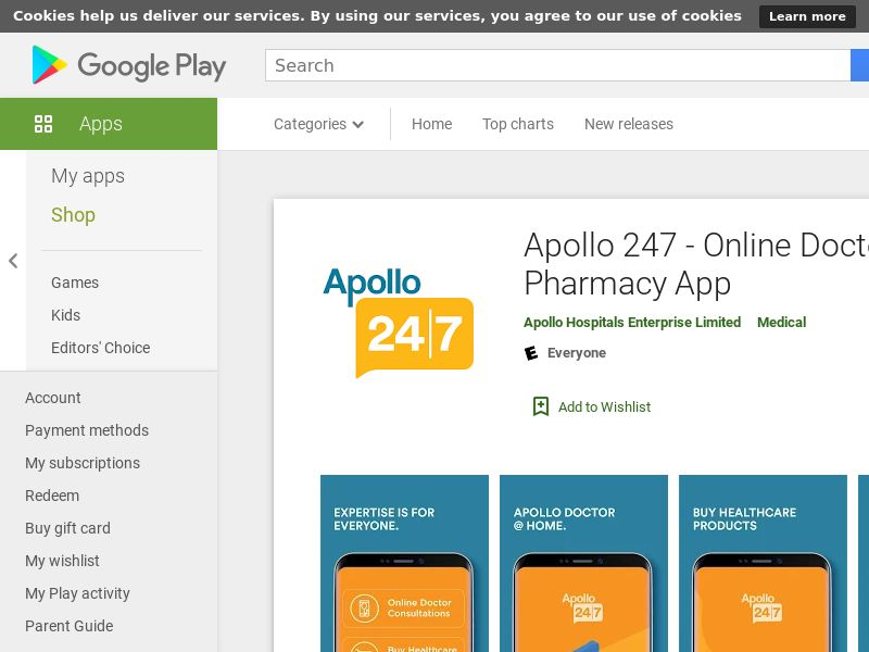 Apollo 247 - Online Doctor & Apollo Pharmacy App