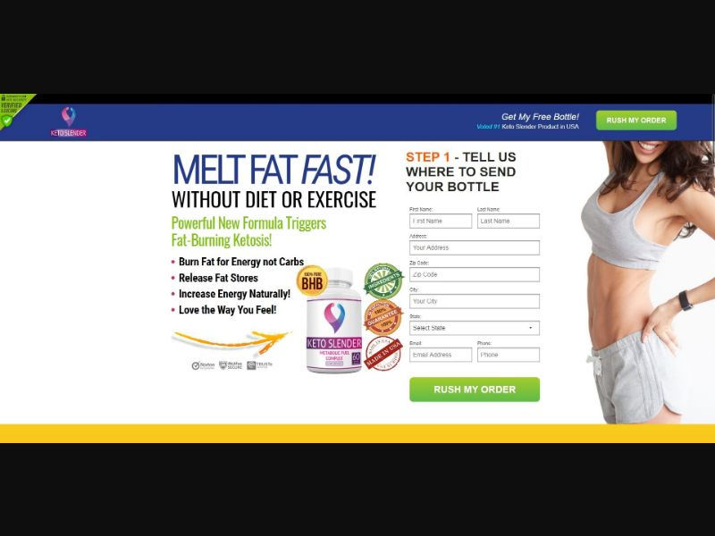 Keto Slender Metabolic Fuel Complex - Diet & Weight Loss - SS - NO SEO - [US]