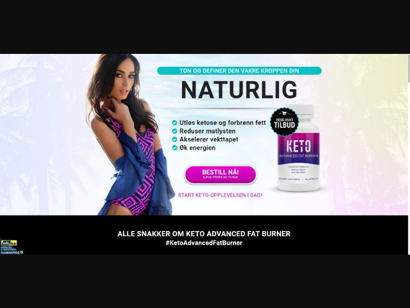 Keto Advanced Fat Burner - V2 - Diet & Weight Loss - SS - [NO]