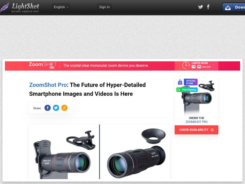 ZoomShot Pro (ALL) (CPS) (Personal Approval)