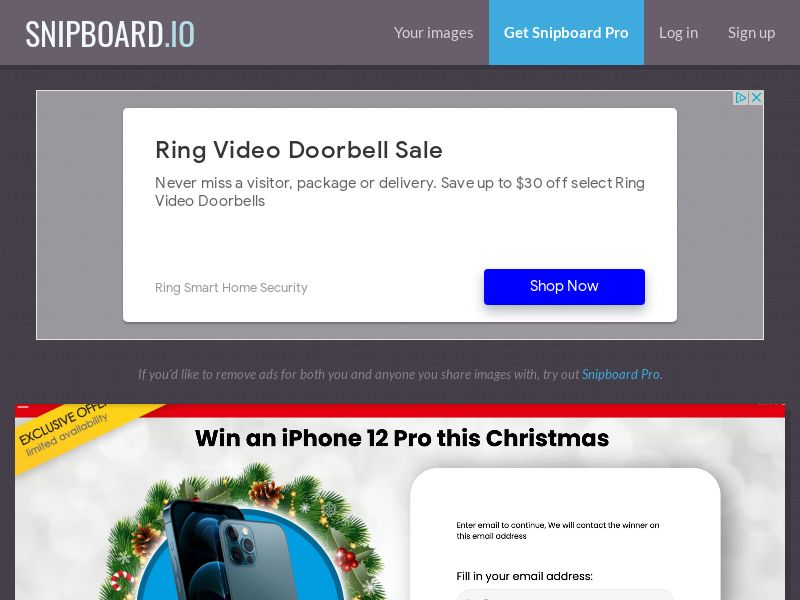 YouSweeps - Win iphone 12 pro christmas CA - SOI