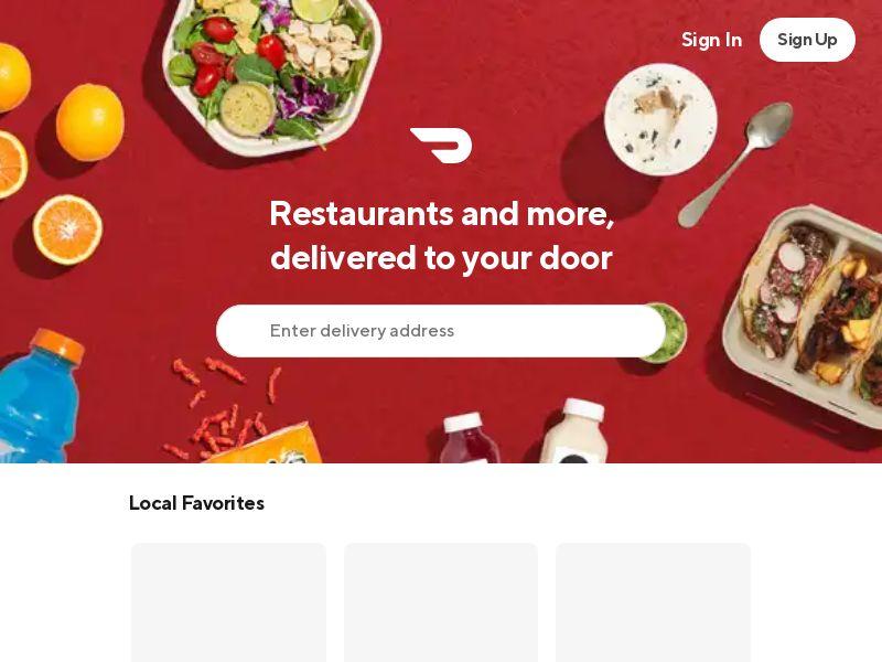 DoorDash - Delivery Food Service - Revshare 80% - CPA - [US/CA/AU]