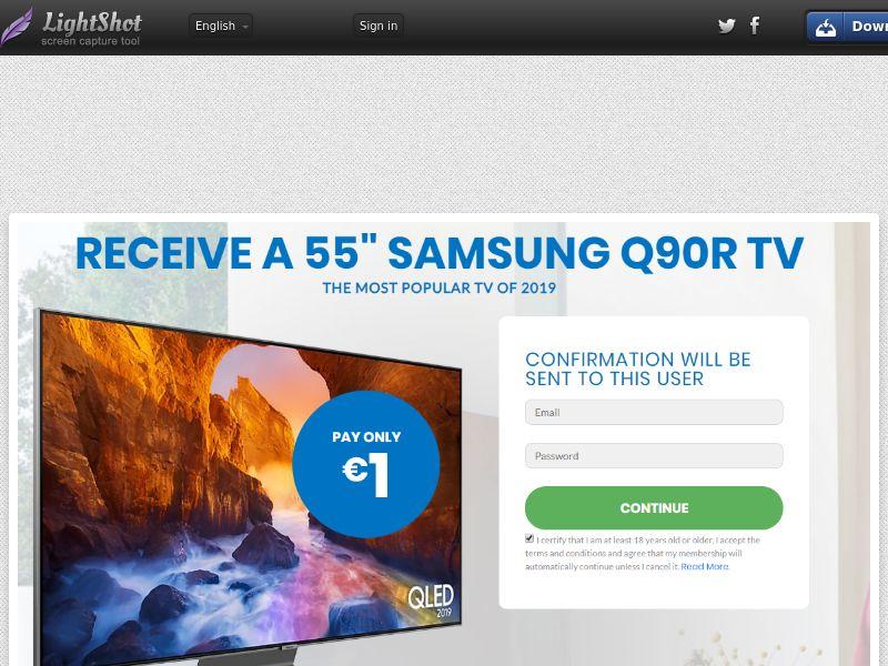 SugarBeats SAMSUNG Q90R TV (Sweepstake) (CC Trial) - Germany [DE]