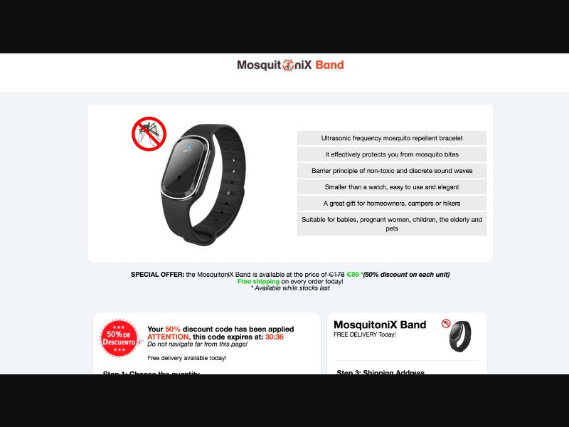 MosquitoniX Band - CPS - Tier1 - eCommerce - Responsive