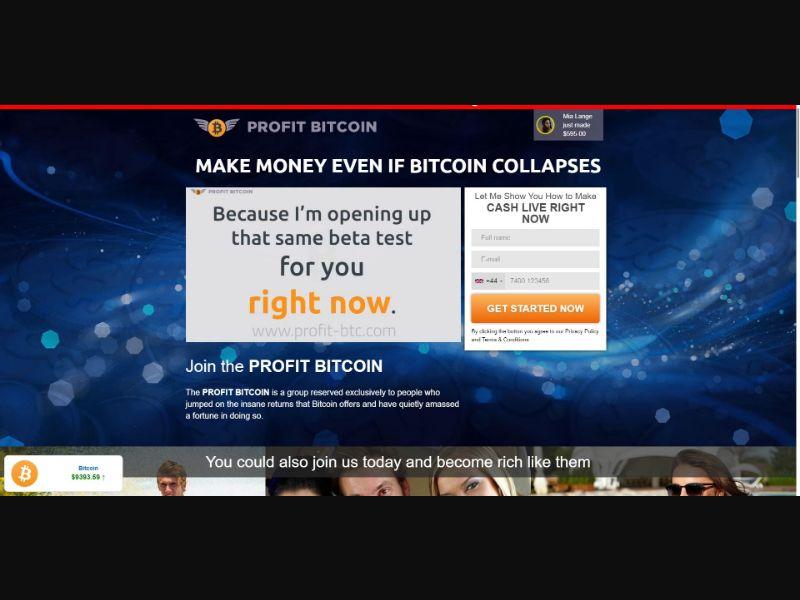 Profit Bitcoin - VSL - Crypto - SS - [67 GEOs]