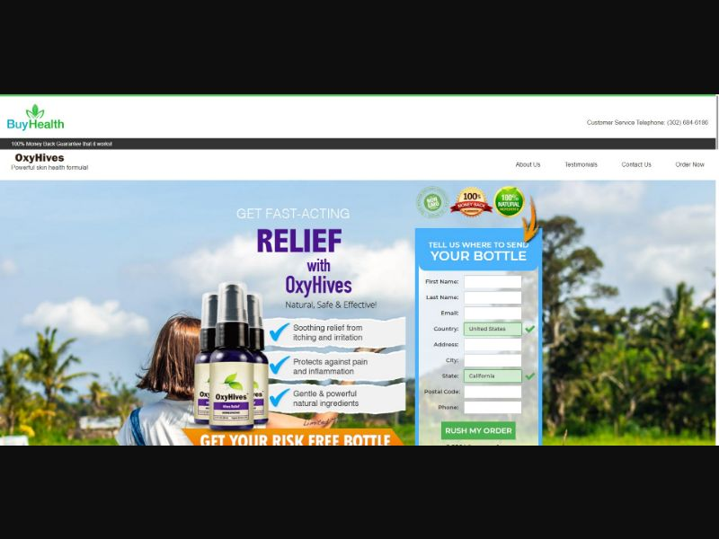 OxyHives Homeopathic Hives Relief - Health - SS - [133 GEOs]