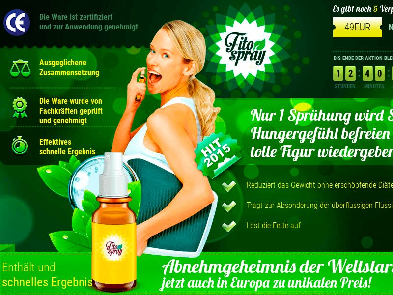 Fitospray DE - weight loss spray