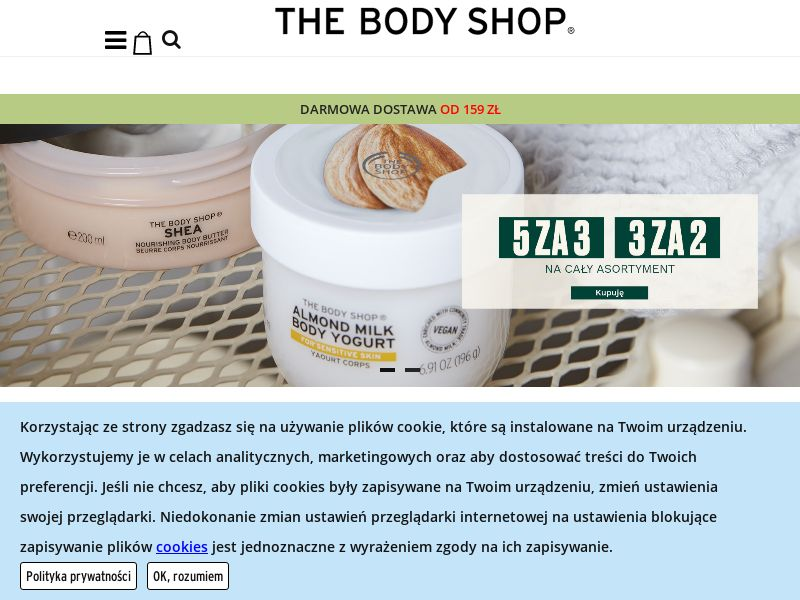 The Body Shop (PL), [CPS], Health and Beauty, Cosmetics, Sell, coronavirus, corona, virus, keto, diet, weight, fitness, face mask