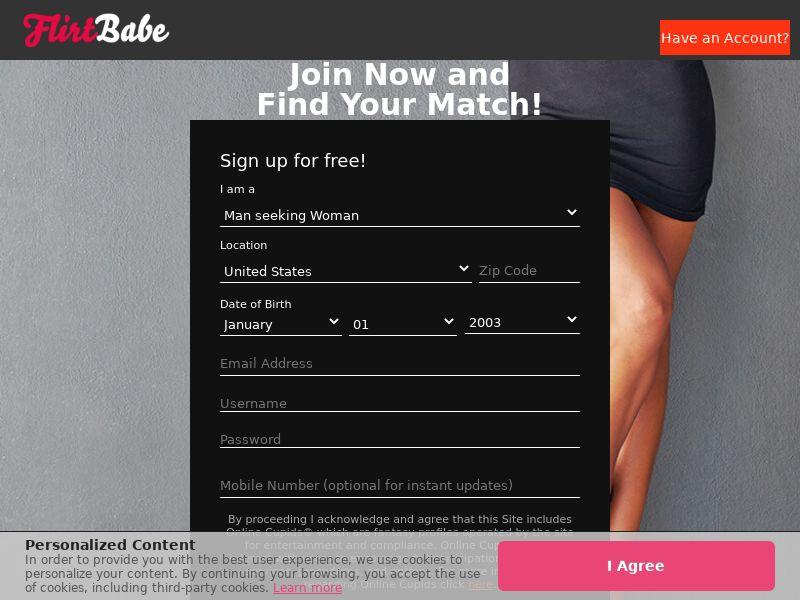 FlirtBabe - Direct Advertiser - US, CA, AU
