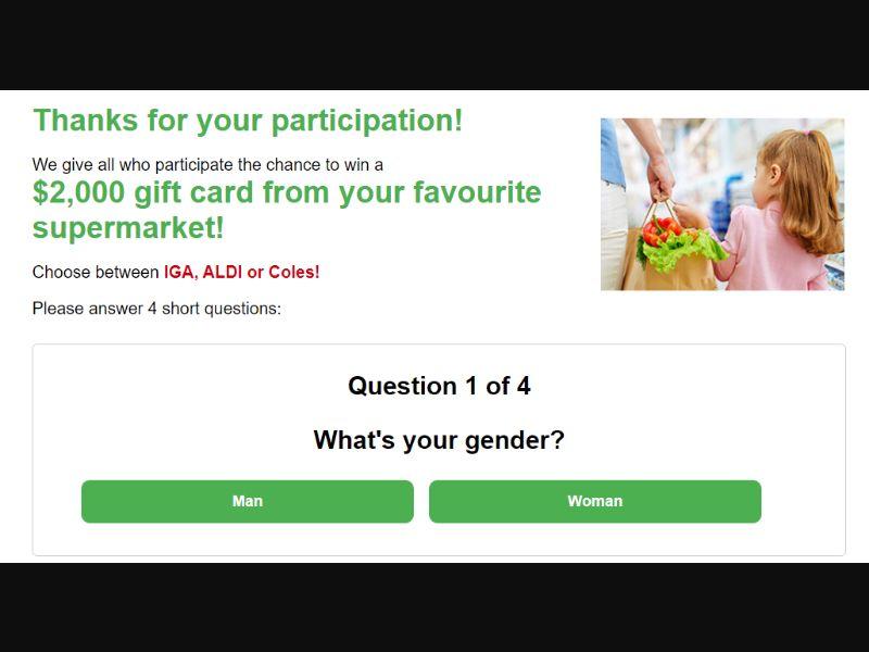 AU - Win Grocery Voucher [AU] - SOI registration