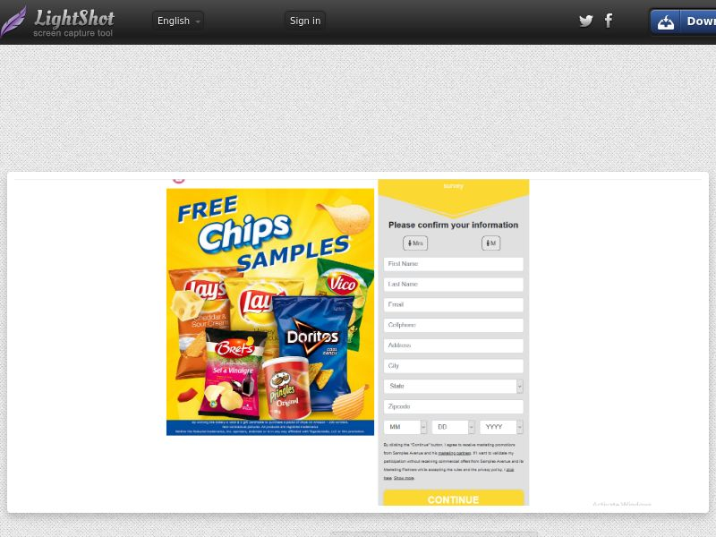 Free Chips Samples - US