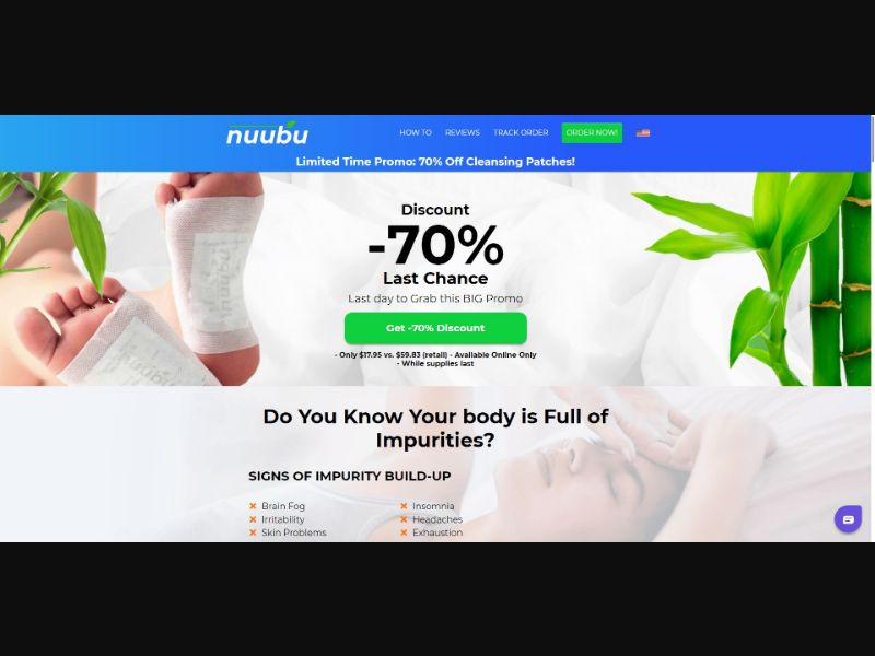Nuubu Detox Foot Patch - Health - SS - [US]