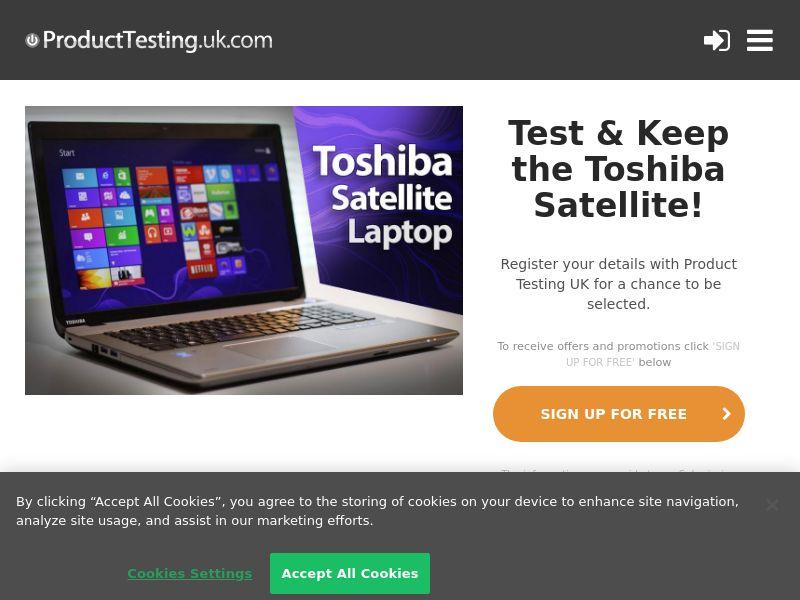Email Submit - Toshiba Satellite - SOI (UK)