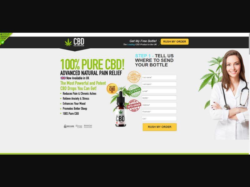 Full Spectrum CBD Oil - CBD - SS - [UK]