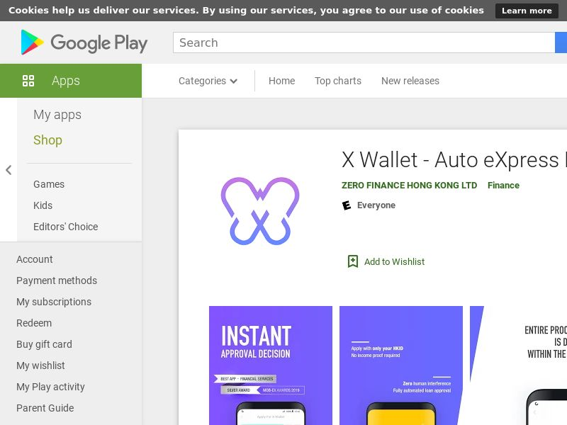 X Wallet (Android, Free, HK, 63MB, w/capping) CPA - Medical 1893548