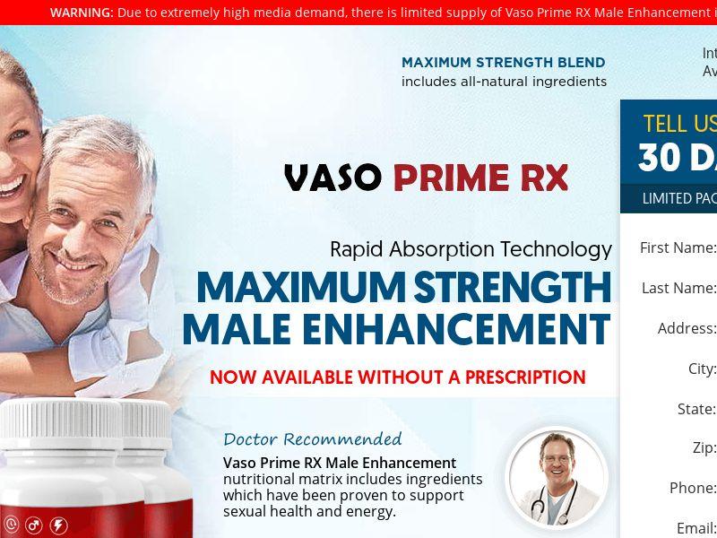 Vaso Prime RX Trial w/ Upsell - US