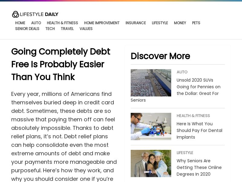 LifeStyle Daily Debt Relief - CPC