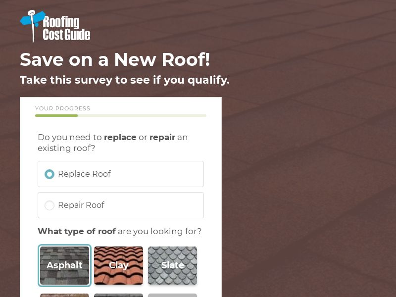 Sears Roofing Cost Guide [US] (Email) - CPL