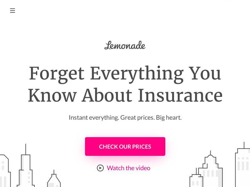 Lemonade - Renters & Home Insurance - CPA - [US]