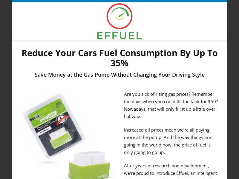 Effuel - Improves Car Fuel Efficiency - CPA - [US]