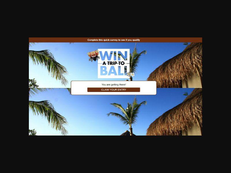 Win a Trip to Bali - AU