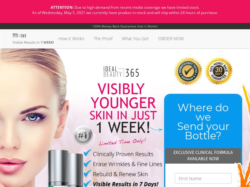 Look Younger Skin [US] (Email,Social,Banner,Native,Push,SEO,Search) - CPA