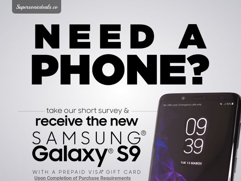 SuperSonicDeals Samsung Galaxy S9 - Email Submit - Incent
