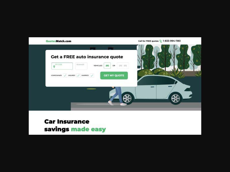 Quotesmatch.com Auto Insurance (US) CPL Native/Email