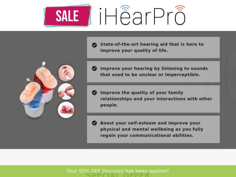 iHear Pro (PPS) - eCommerce - WW