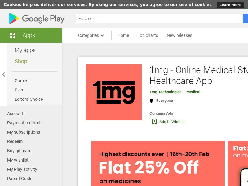 1mg - Online Medical Store & Healthcare App AND IN