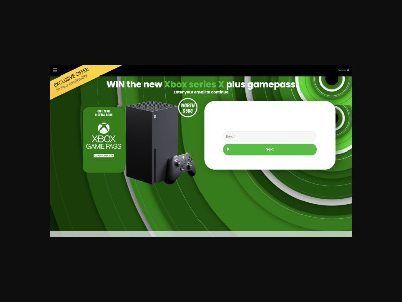 YOUSWEEPS - Win a Free XBox with Game Pass (US)