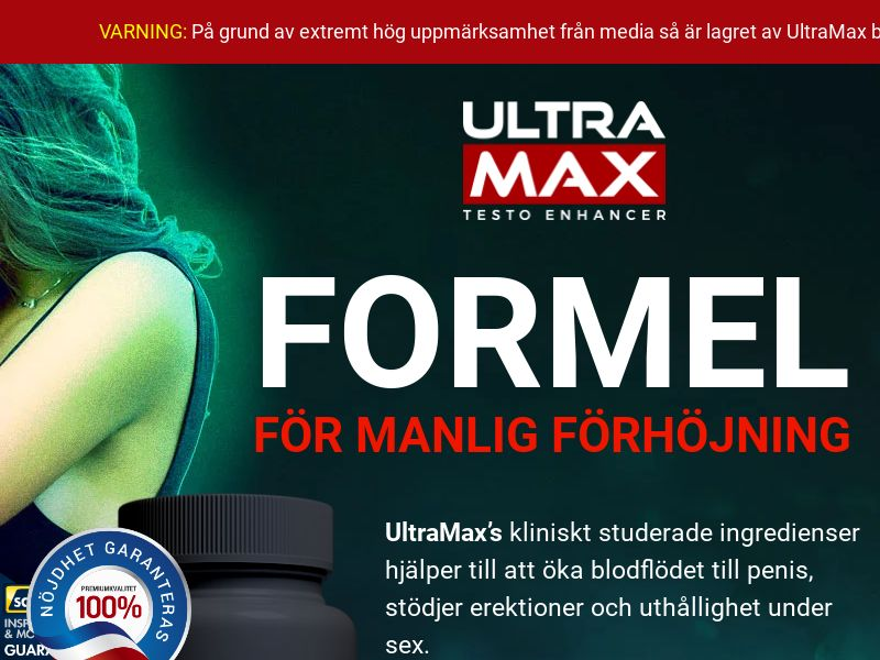 Ultramax - Swedish [SE] (Banner,Native,Social,Push,Search,SEO,PPC) - CPA {No Email}