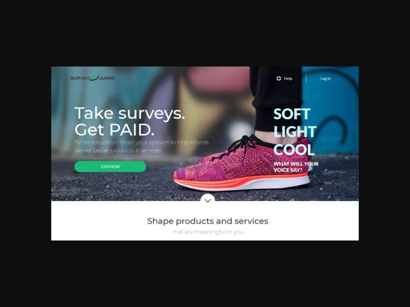 Survey Junkie - US/CA (Desktop Only)