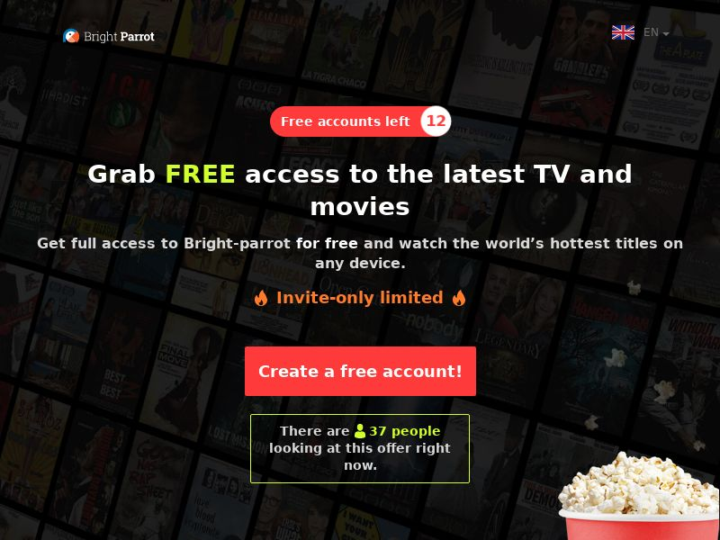 Parrot - CC (MultiGeo), [CPA], Entertainment, Movies & VOD, Credit Card Submit, cinema, tv, series, film, stream