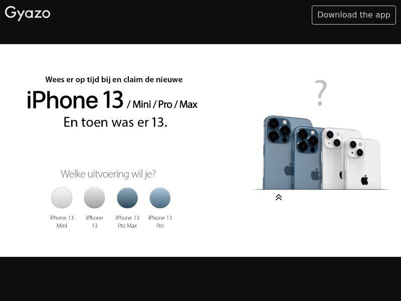 Winnenmetje - Win iPhone 13 (BE) (CPL) (Personal Approval)