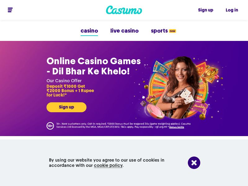 Casumo.com Casino CPA - India