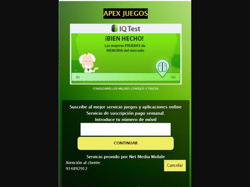 Spain IQ TEST [ES] - 2 click