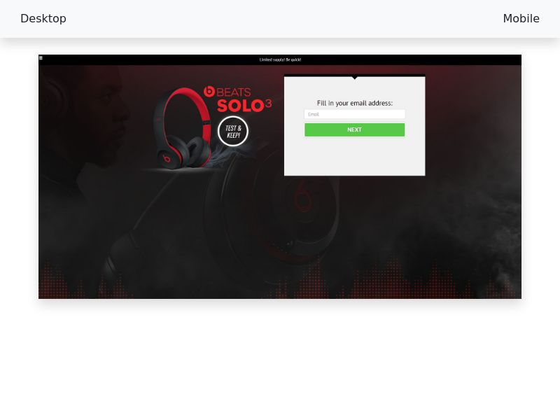 Sweepstake Test & keep a Beats Solo3 - CPL SOI - All devices - [UK]
