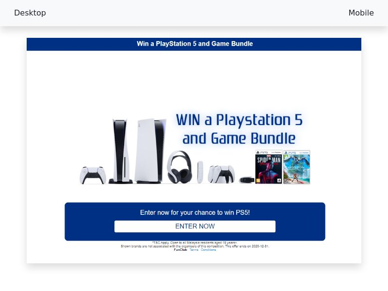 PlayStation 5 and Game Bundle - CPL/SOI - [MY]