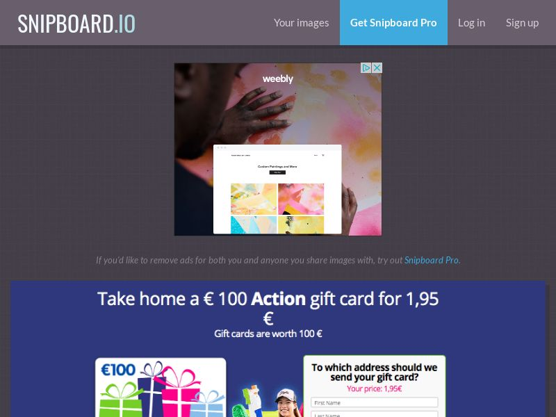 G33K - Action Supermarket Giftcard FR - CC Submit
