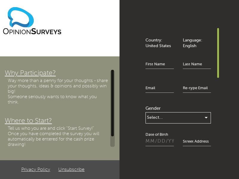 Opinion Surveys - Mobile and Desktop - US - Incent OK - Converts on Completed Survey