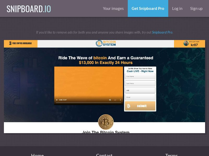 40033 - SE - Bitcoins System (min FTD $250)