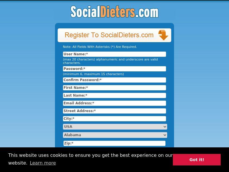 Social Dieters (CPL) (US, UK, AU, IE,NZ)