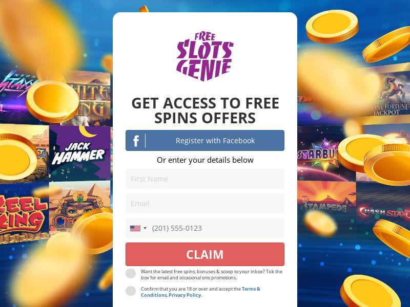 Free Slots Genie - Claim 100 Free Spins (No Email) [UK]