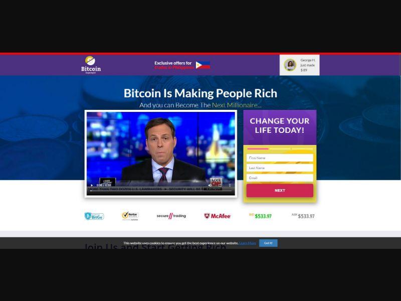 Bitcoin Supersplit - $250 min CTC - VSL - Crypto - SS - [50 GEOs]