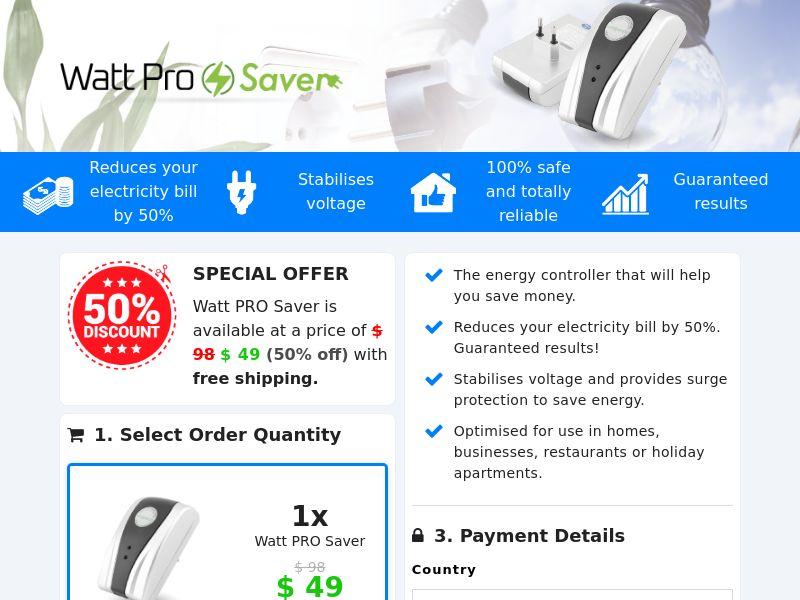 Watt PRO Saver (PPS) - eCommerce - WW