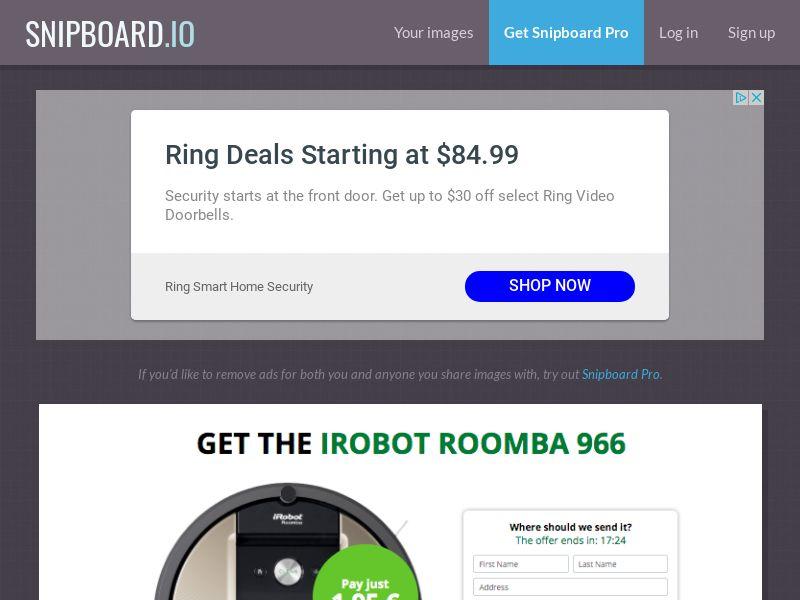 G33K Premium - iRobot Roomba FR - CC Submit