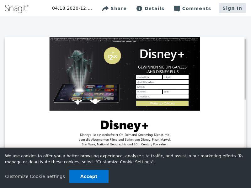 Win Disney Plus | DE