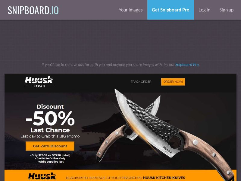 41780 - DE - AT - E-commerce - Huusk - Handmade Knives - (DE - AT) - [Ann-FB] [4809] [order page LP]