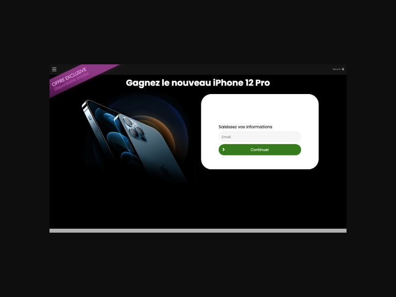 CONSUMERSCONNECT Win an iphone 12 pro (FR) SOI